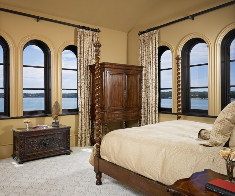 arch-window-curtains-Bedroom-Mediterranean-with-arched-window-bed-carpet.jpg